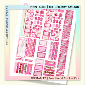 PRINTABLE | FUNCTIONAL STICKER KITS | My Cherry Amour
