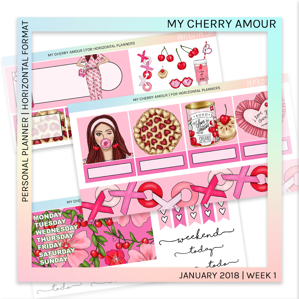 HORIZONTAL PLANNER STICKER KIT | My Cherry Amour