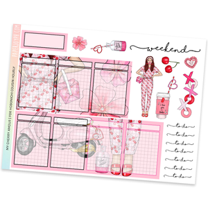 HOBONICHI COUSIN | HOURLY STICKER KIT | My Cherry Amour