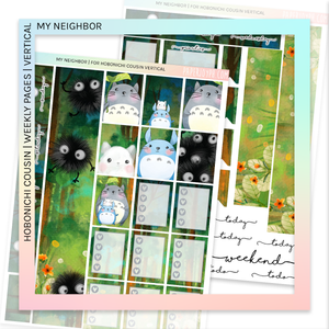 HOBONICHI COUSIN | VERTICAL STICKER KIT | My Neighbor