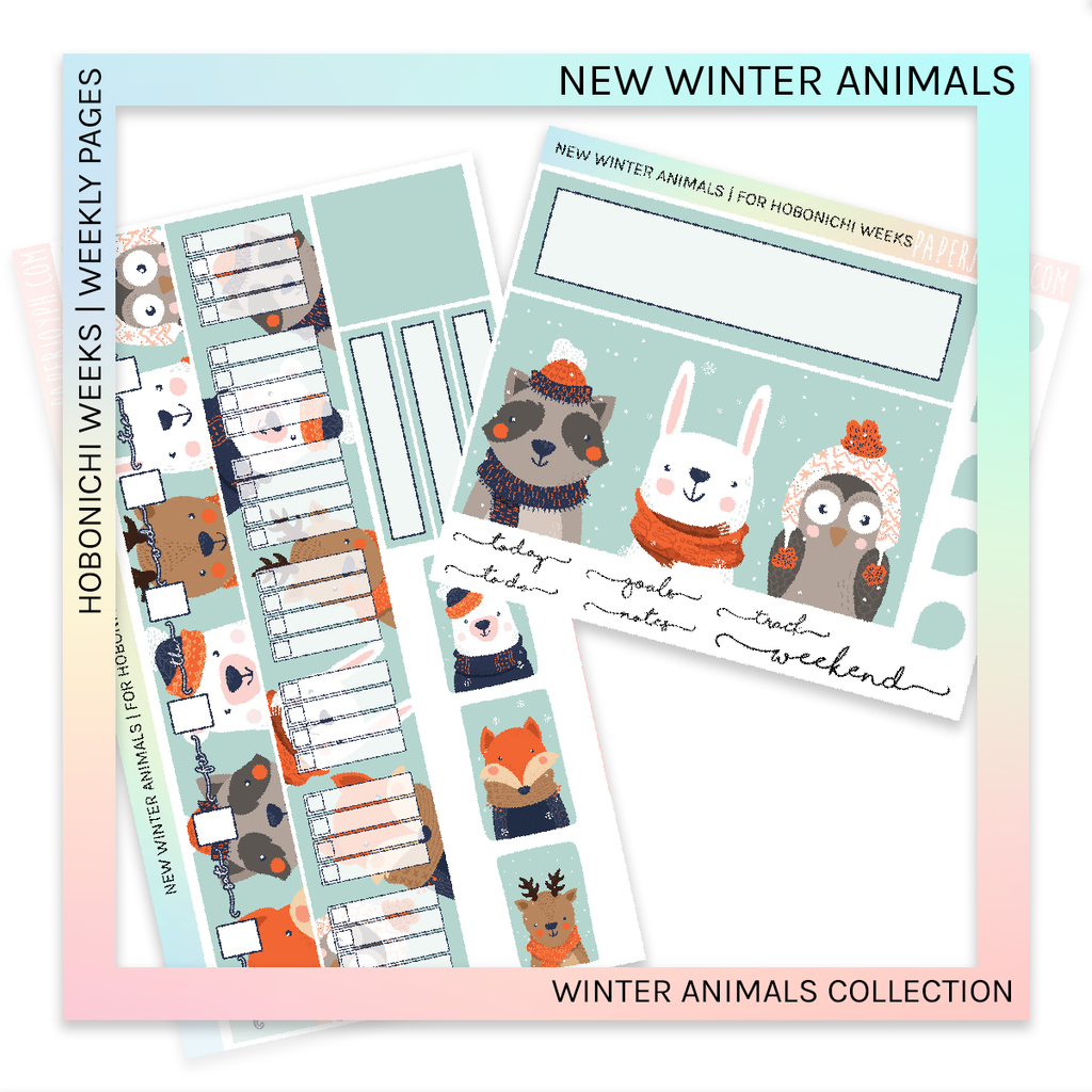 HOBONICHI WEEKS | WEEKLY PAGES | New Winter Animals