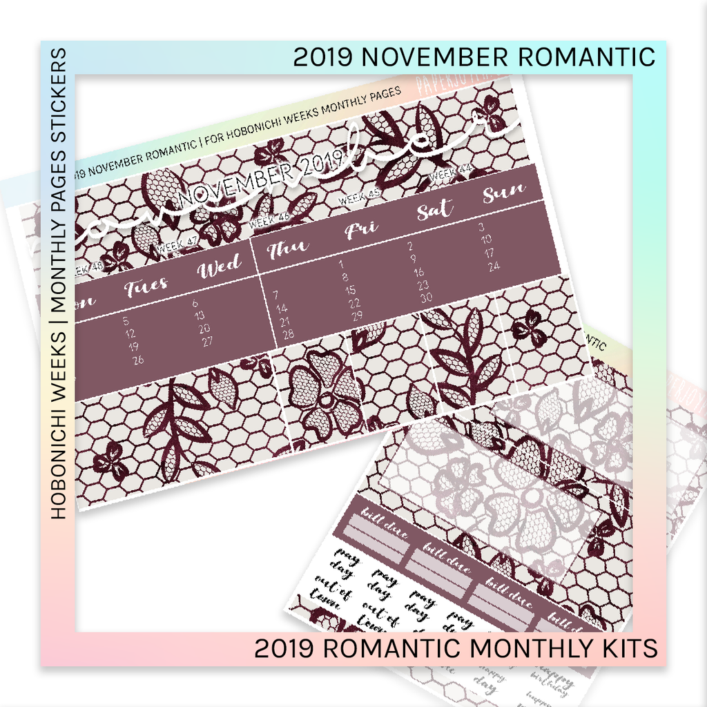 HOBONICHI WEEKS | 2019 MONTHLY PAGES | November Romantic 2019