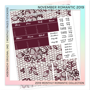 HOBONICHI ORIGINAL (A6) | MONTHLY PAGES | November Romantic 2019