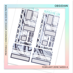 PRINTABLE | HOBONICHI WEEKS | Obsidian A4 size paper