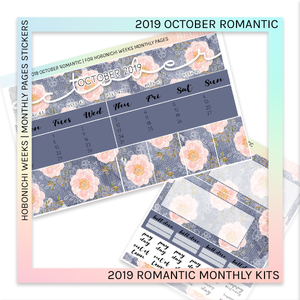 HOBONICHI WEEKS | 2019 MONTHLY PAGES | October Romantic 2019
