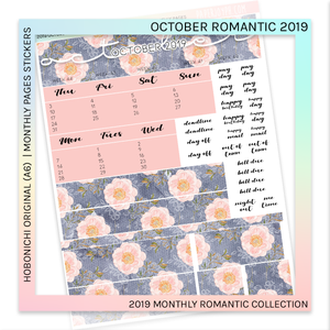 HOBONICHI ORIGINAL (A6) | MONTHLY PAGES | October Romantic