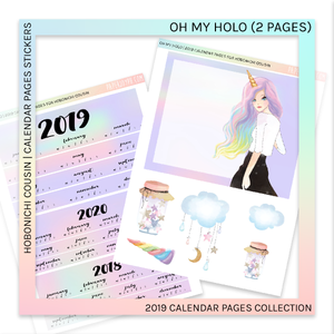 HOBONICHI COUSIN | CALENDAR PAGES | Oh My Holo 2019
