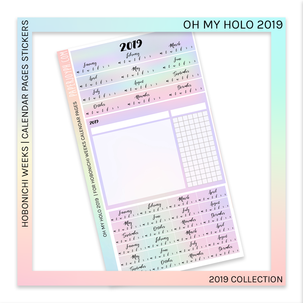 HOBONICHI WEEKS | CALENDAR PAGES | Oh My Holo 2019