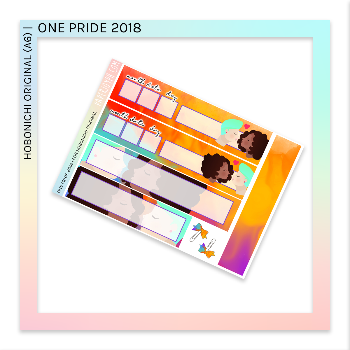 HOBONICHI ORIGINAL (A6) | PRIDE COLLECTION BUNDLE