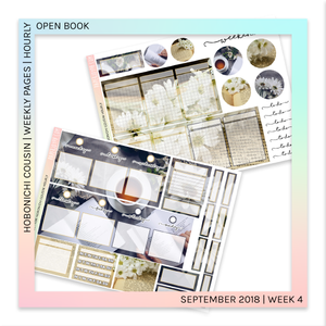 HOBONICHI COUSIN | HOURLY STICKER KIT | Open Book