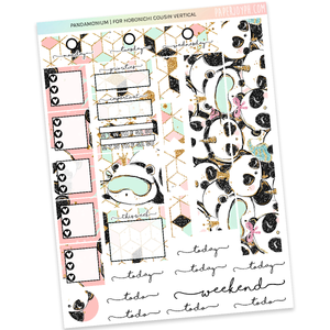 HOBONICHI COUSIN | VERTICAL STICKER KIT | Pandamonium