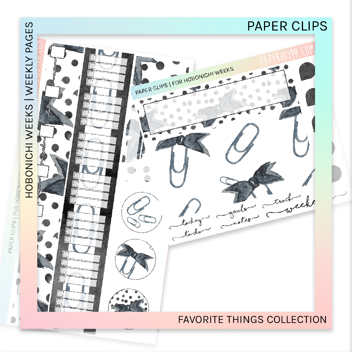 HOBONICHI WEEKS | WEEKLY PAGES | Paper Clips