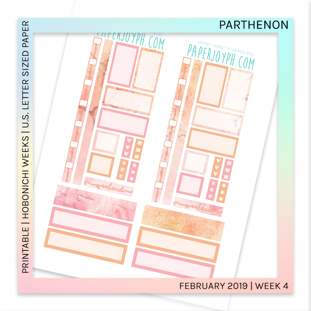 PRINTABLE | HOBONICHI WEEKS | Parthenon U.S. LETTER size paper