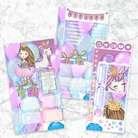 Personal Planner Vertical  Sticker Kit | PARTY PRINCESS