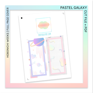 PRINTABLE | HOBONICHI WEEKS FULL PAGE STICKERS | Pastel Galaxy