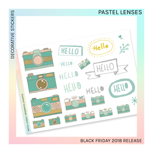 DECORATIVE SHEET | Pastel Lenses