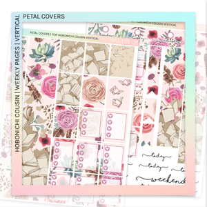 HOBONICHI COUSIN | VERTICAL STICKER KIT | PASTEL COVERS