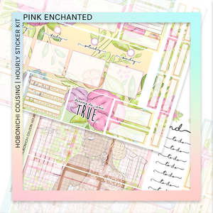 HOBONICHI COUSIN | HOURLY STICKER KIT | Pink Enchanted