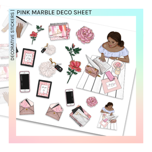 DECORATIVE SHEET | Pink Marble