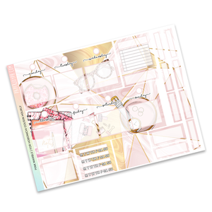 HOBONICHI COUSIN | HOURLY STICKER KIT | Pink Marble