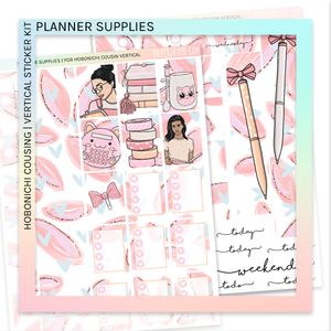 HOBONICHI COUSIN | VERTICAL STICKER KIT | Planner Supplies
