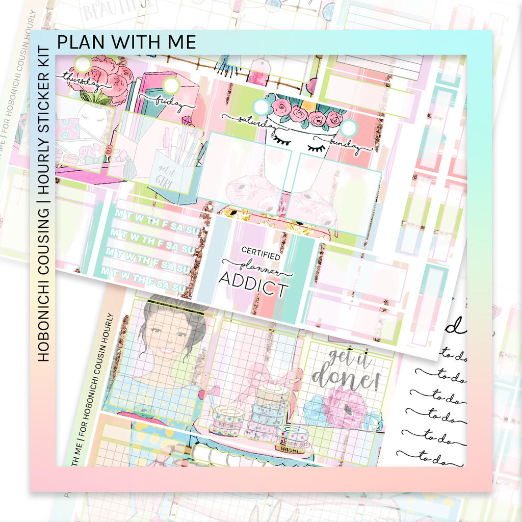 HOBONICHI COUSIN | HOURLY STICKER KIT | Plan With Me