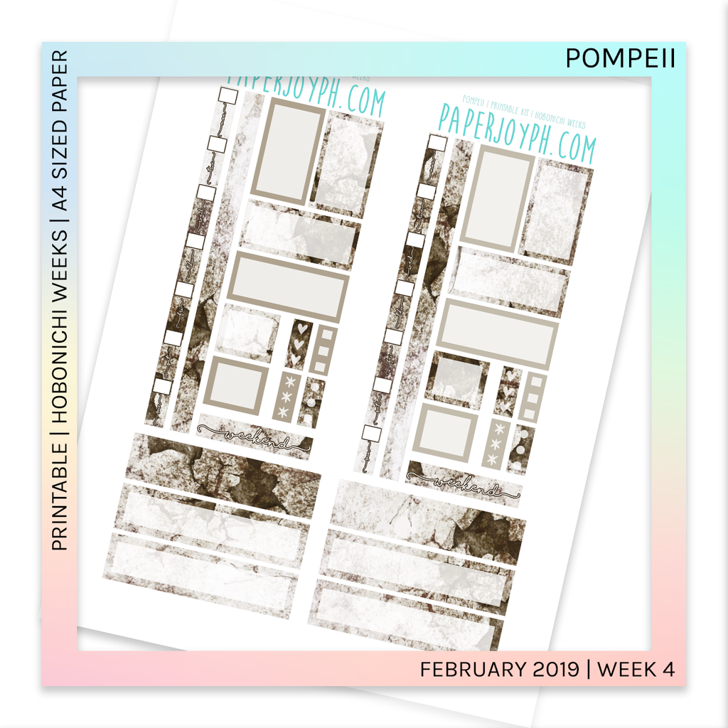 PRINTABLE | HOBONICHI WEEKS | Pompeii A4 size paper