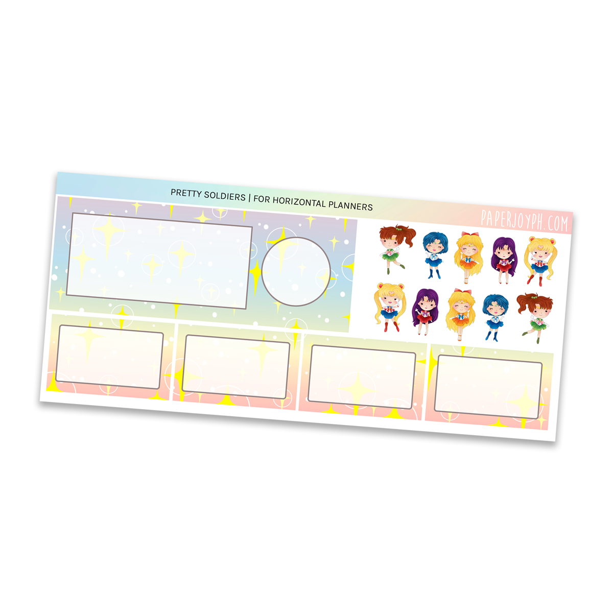 HORIZONTAL PLANNER STICKER KIT | Pretty Soldiers