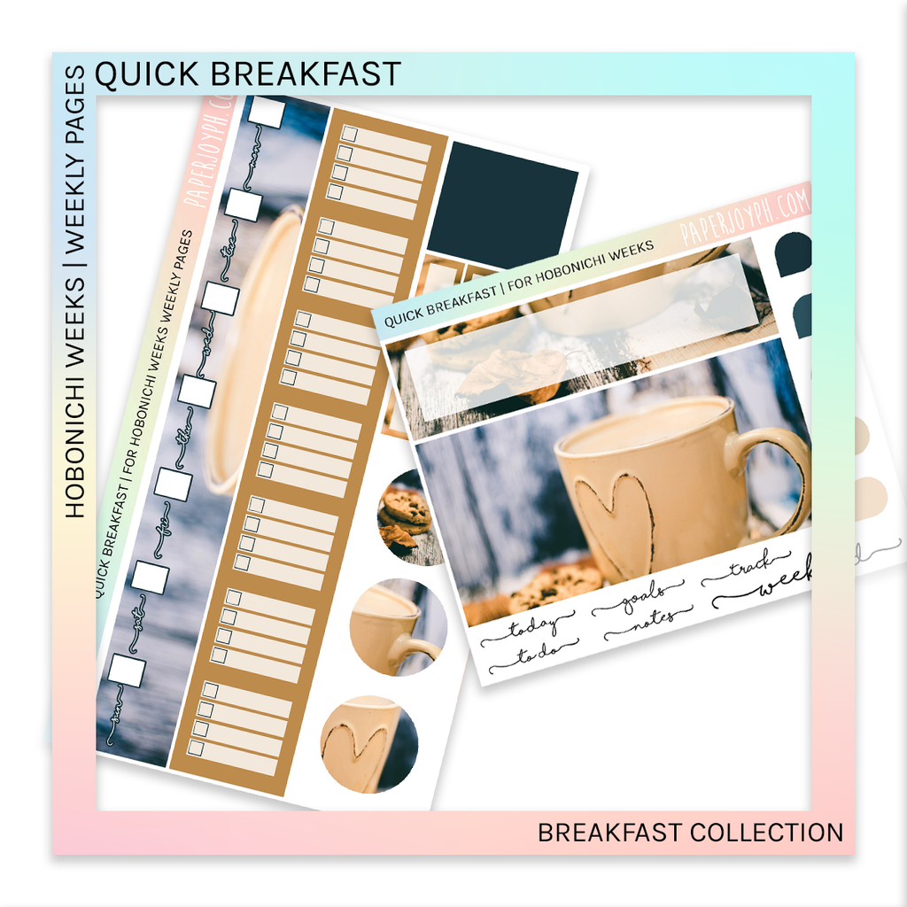 HOBONICHI WEEKS | WEEKLY PAGES | Quick Breakfast