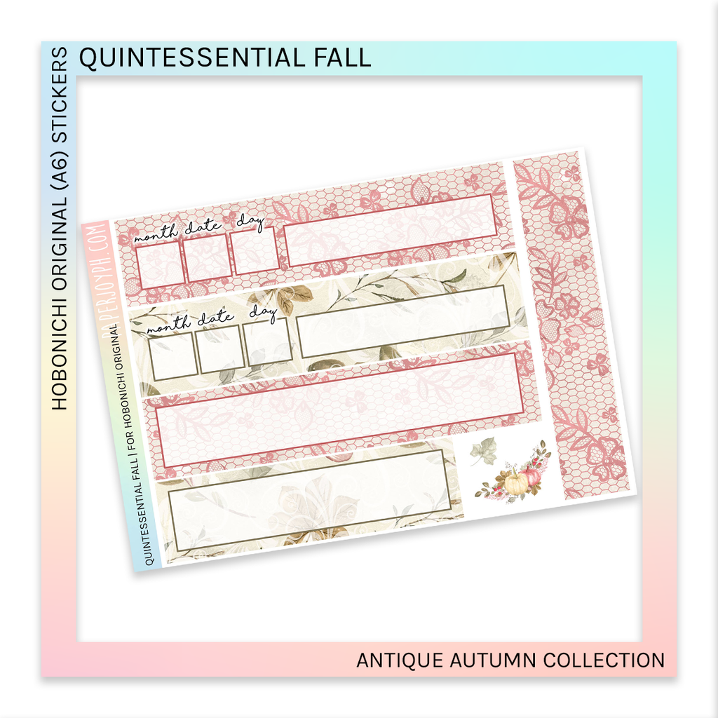 HOBONICHI ORIGINAL (A6) | Quintessential Fall