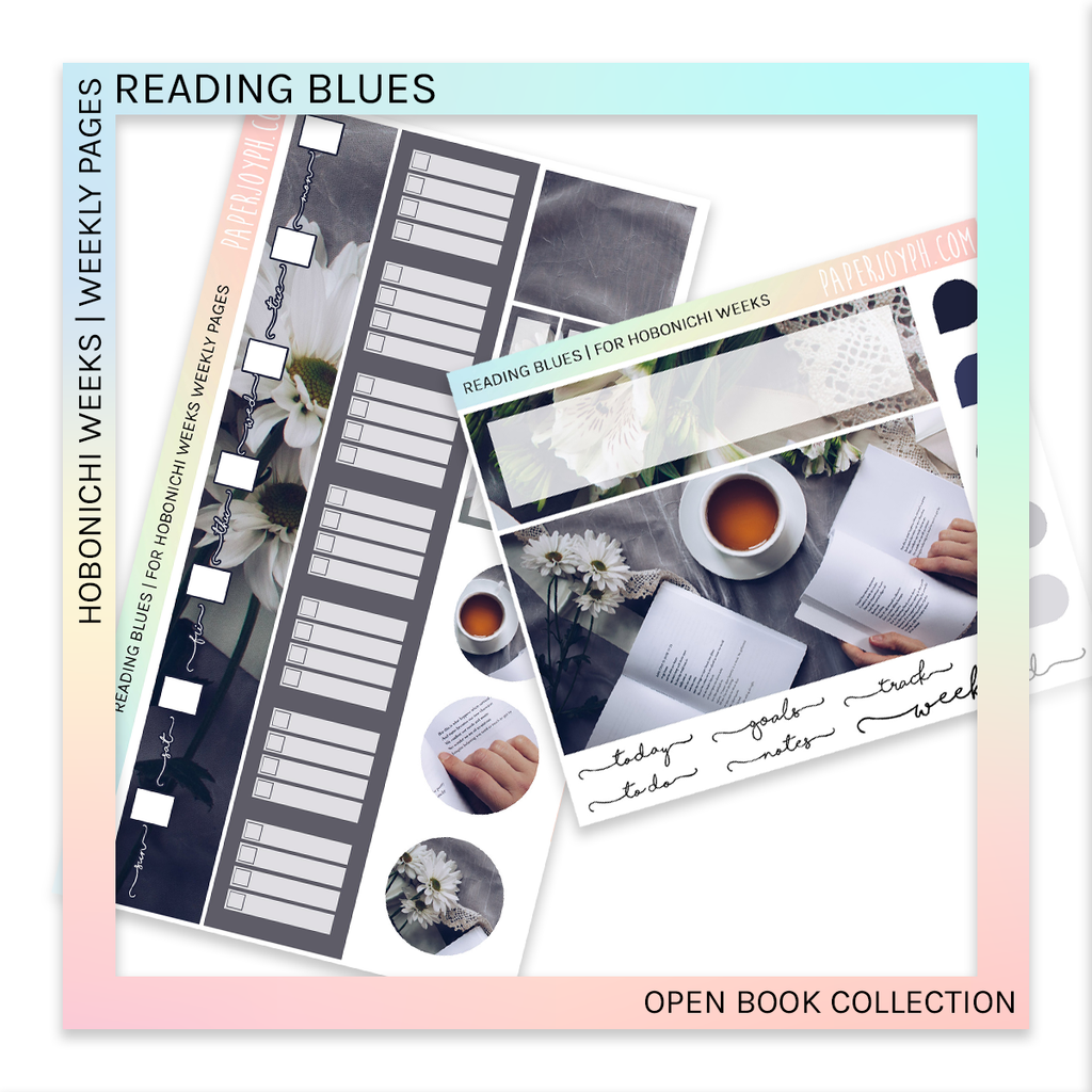 HOBONICHI WEEKS | WEEKLY PAGES | Reading Blues