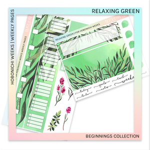 HOBONICHI WEEKS | WEEKLY PAGES | Relaxing Green