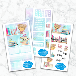 Personal Planner Horizontal Sticker Kit | RELAXING TIME