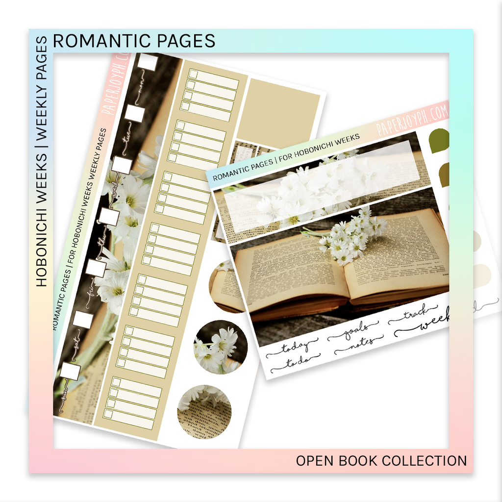 HOBONICHI WEEKS | WEEKLY PAGES | Romantic Pages