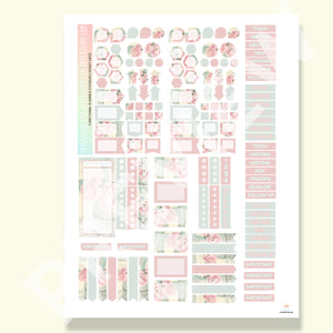 PRINTABLE | FUNCTIONAL STICKER KITS | Rosey Days