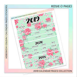 HOBONICHI COUSIN | CALENDAR PAGES | Rosie