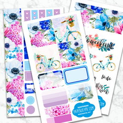 Personal Planner Horizontal Sticker Kit | SANTORINI