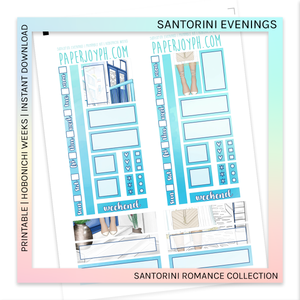 PRINTABLE | HOBONICHI WEEKS | Santorini Evenings