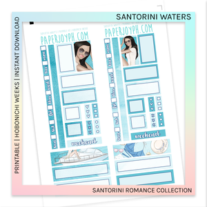 PRINTABLE | HOBONICHI WEEKS | Santorini Waters