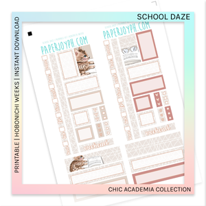 PRINTABLE | HOBONICHI WEEKS | School Daze