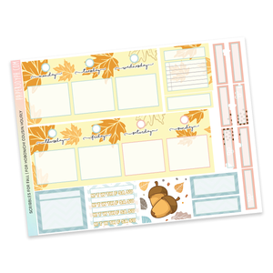 HOBONICHI COUSIN | HOURLY STICKER KIT | Scribbles for Fall