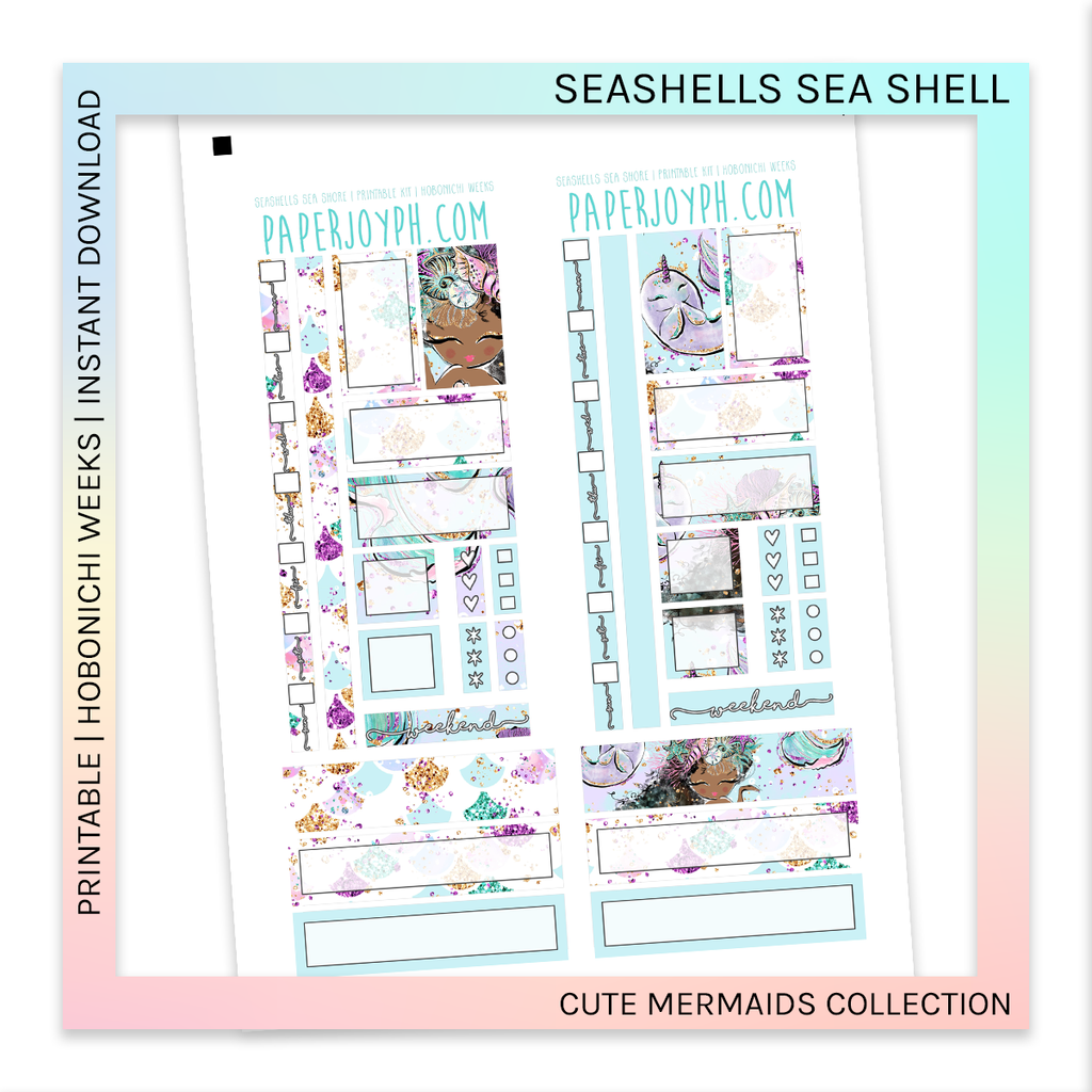 PRINTABLE | HOBONICHI WEEKS | Seashells Sea Shore