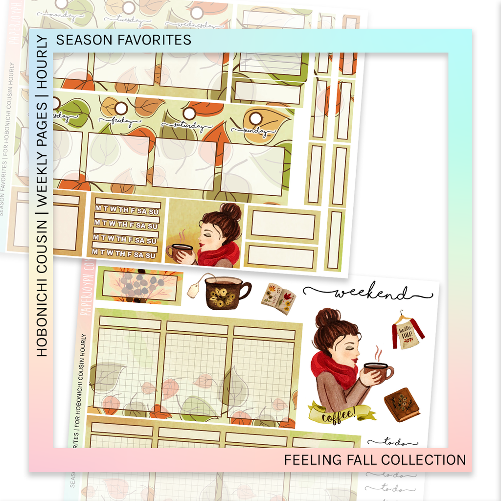 HOBONICHI COUSIN | HOURLY STICKER KIT | Season Favorites
