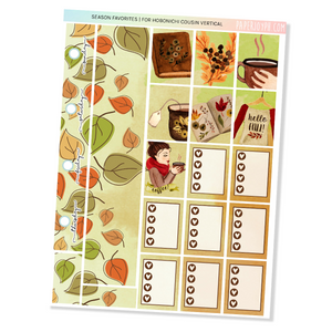 HOBONICHI COUSIN | VERTICAL STICKER KIT | SEASON FAVORITES