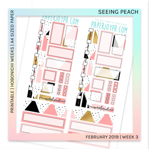 PRINTABLE | HOBONICHI WEEKS | Seeing Peach A4 size paper