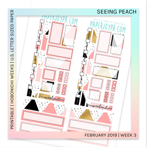 PRINTABLE | HOBONICHI WEEKS | Seeing Peach U.S. LETTER size paper