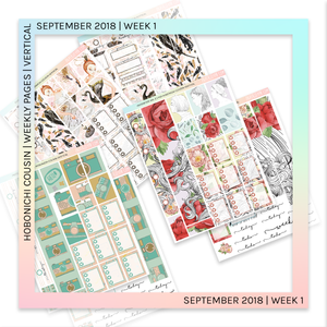 HOBONICHI COUSIN | VERTICAL STICKER KIT | Hereafter Vol. 2