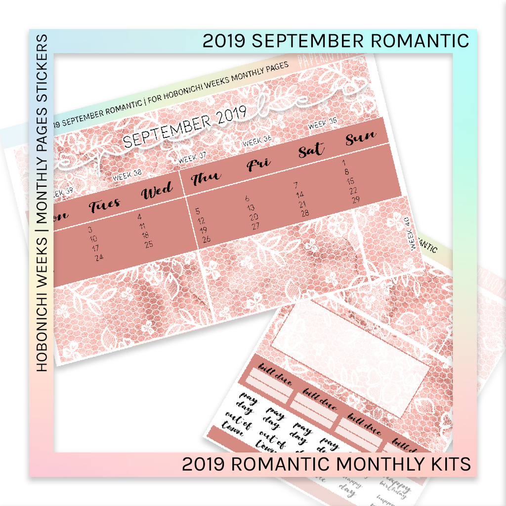 HOBONICHI WEEKS | 2019 MONTHLY PAGES | September Romantic 2019