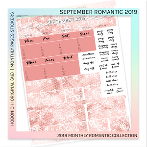 HOBONICHI ORIGINAL (A6) | MONTHLY PAGES | September Romantic 2019