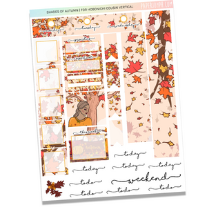 HOBONICHI COUSIN | VERTICAL STICKER KIT | SHADES OF AUTUMN